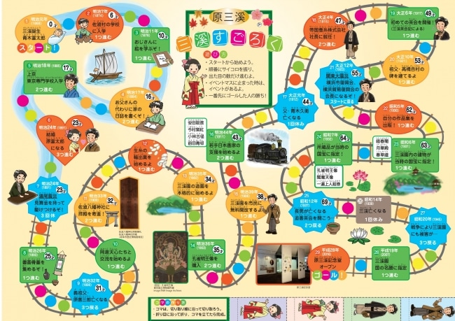 原三渓の人生をすごろくで体験 ヨコハマ経済新聞