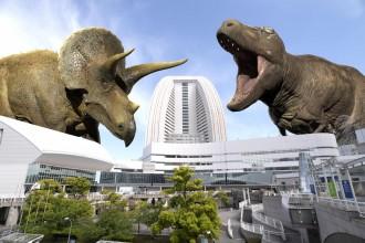 横浜・みなとみらいに巨大な恐竜 「DinoScience 恐竜科学博」の拡張現実