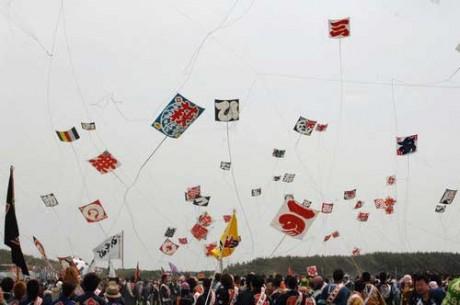 昨年の浜松まつり凧揚げ合戦の様子