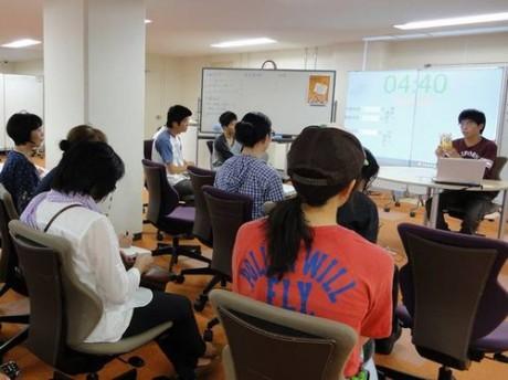 6月1日に静岡大学で行われたビブリオバトルの様子