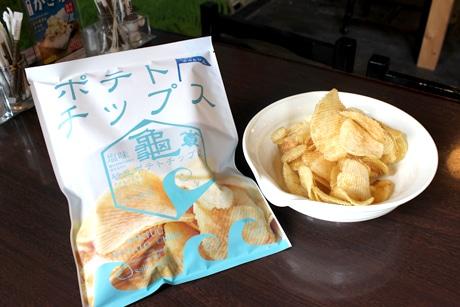 ジャガイモの味がしっかりとした中田島砂丘ポテトチップス