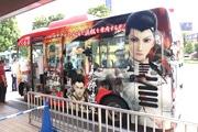 浜松で「戦国BASARA」のラッピングバス ゲーム声優によるによる史跡案内も