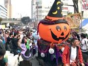 浜松・鍛冶町通りで芸術祭 ハロウィーンイベントに加えクラシックカーや自転車レースも