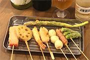 浜松・伝馬町に串カツ店 浜松ギョーザの串カツやチーズタッカルビも