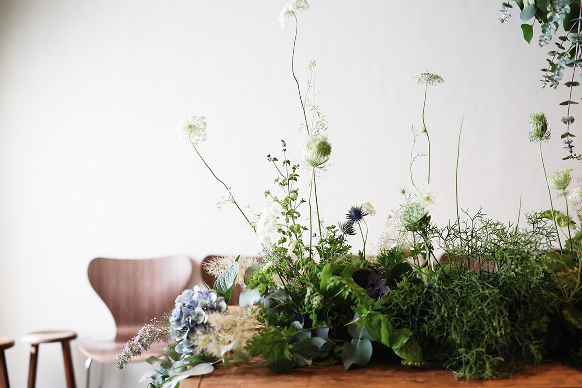 FlowerNoritakeが制作した同スクールの装花