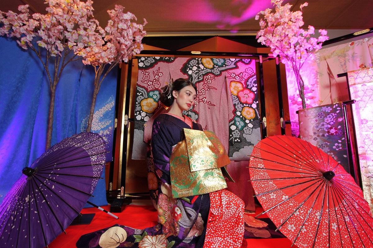 名古屋で開催された際の花魁ブースの様子