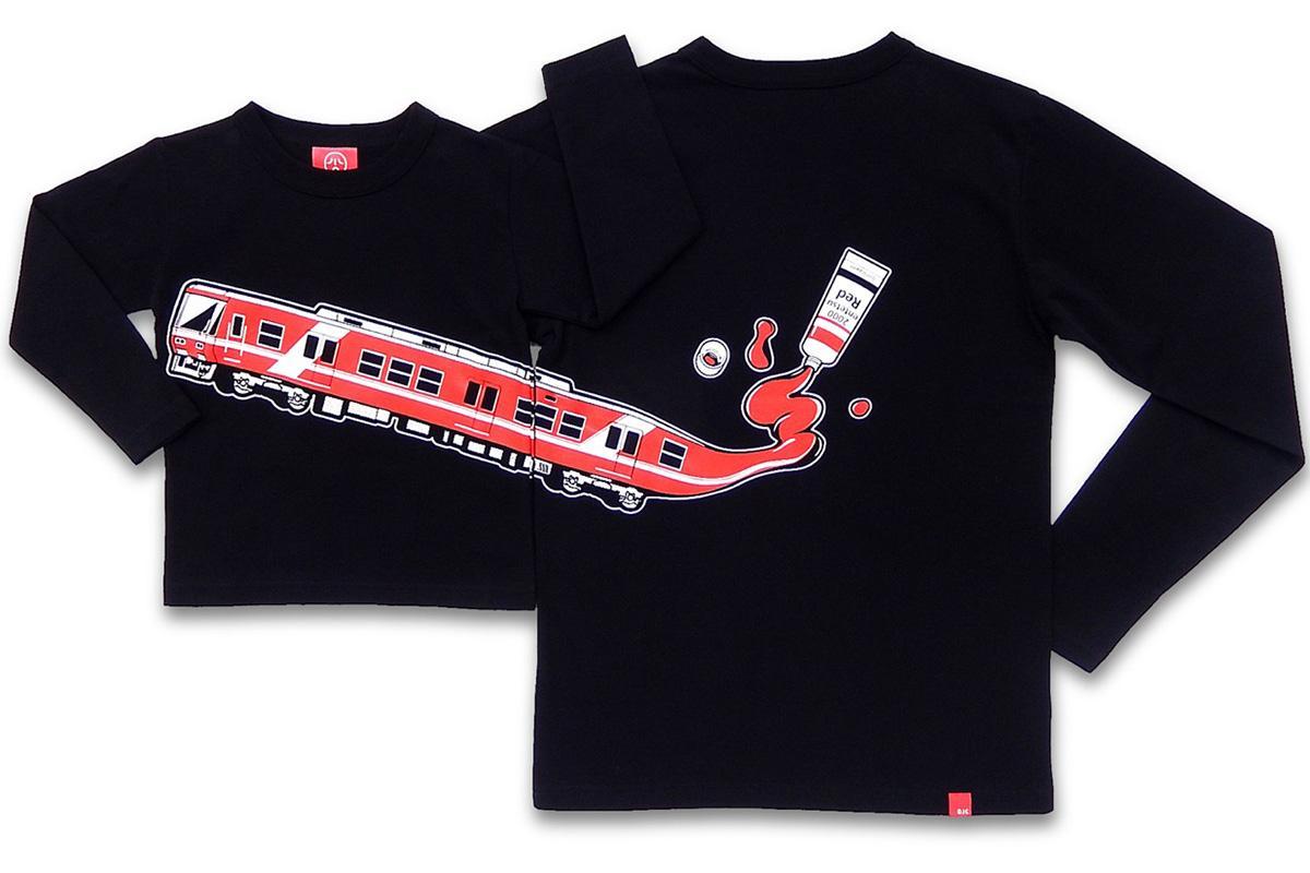 演習雨鉄道2000形コラボTシャツ