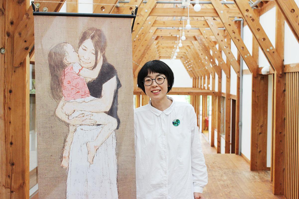 主催者の大石朋子さんと小林憲明さんの作品「ダキシメルオモイ」