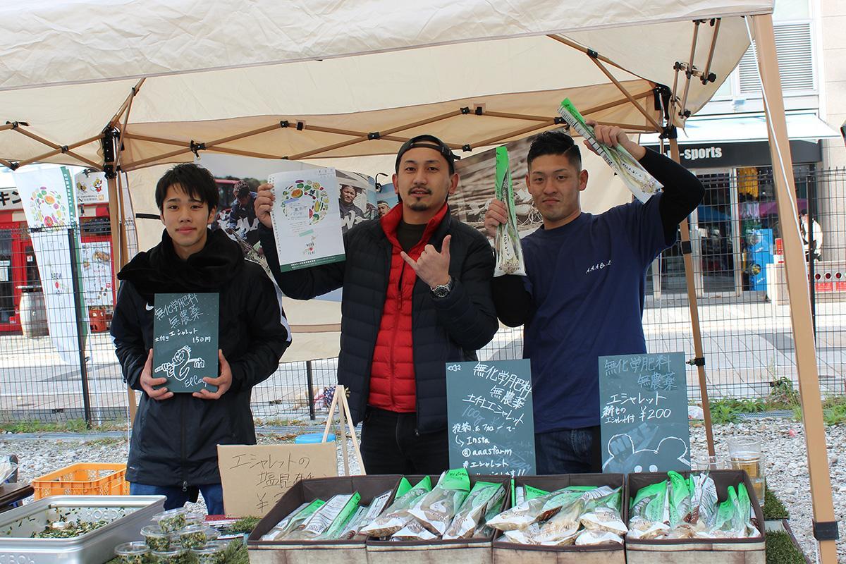 主催者のひとり、伊熊勇樹さんとスタッフ