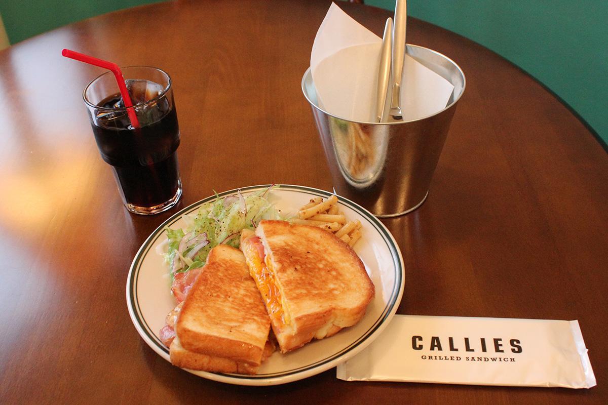 店名と同じ「キャリーズサンドイッチ」のセット