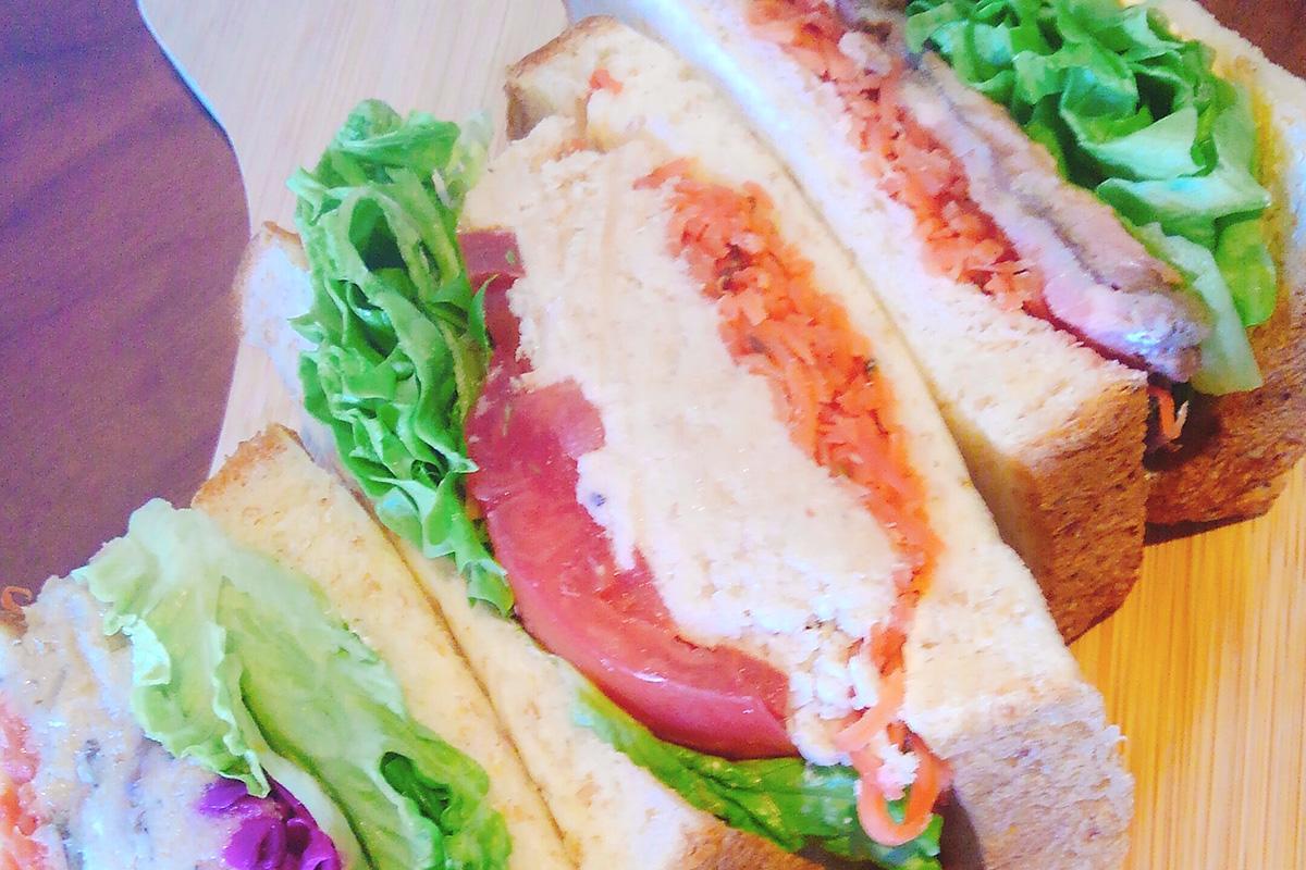 ストロークで扱うサンドイッチの一例