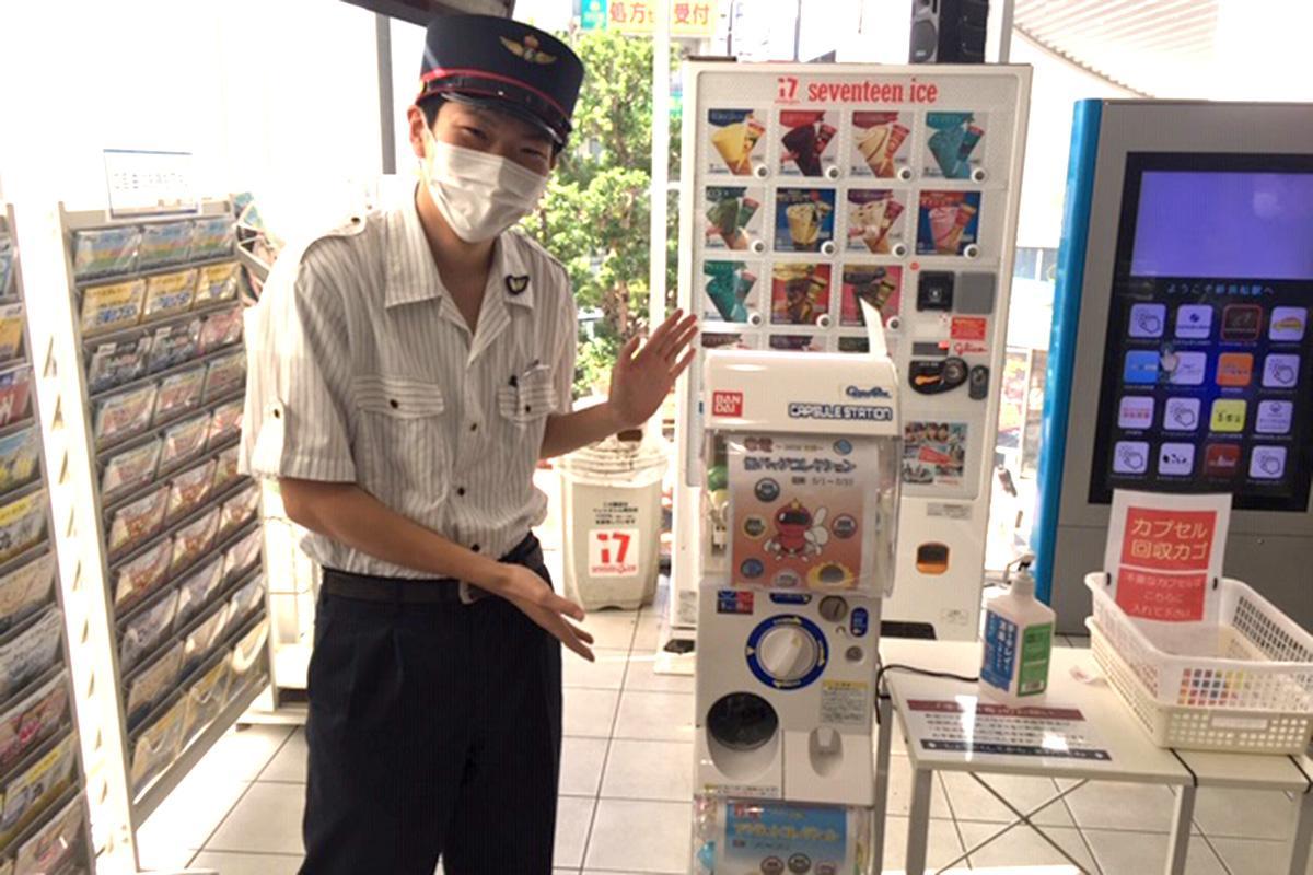 多くの人の来場を期待する、新浜松駅のスタッフ
