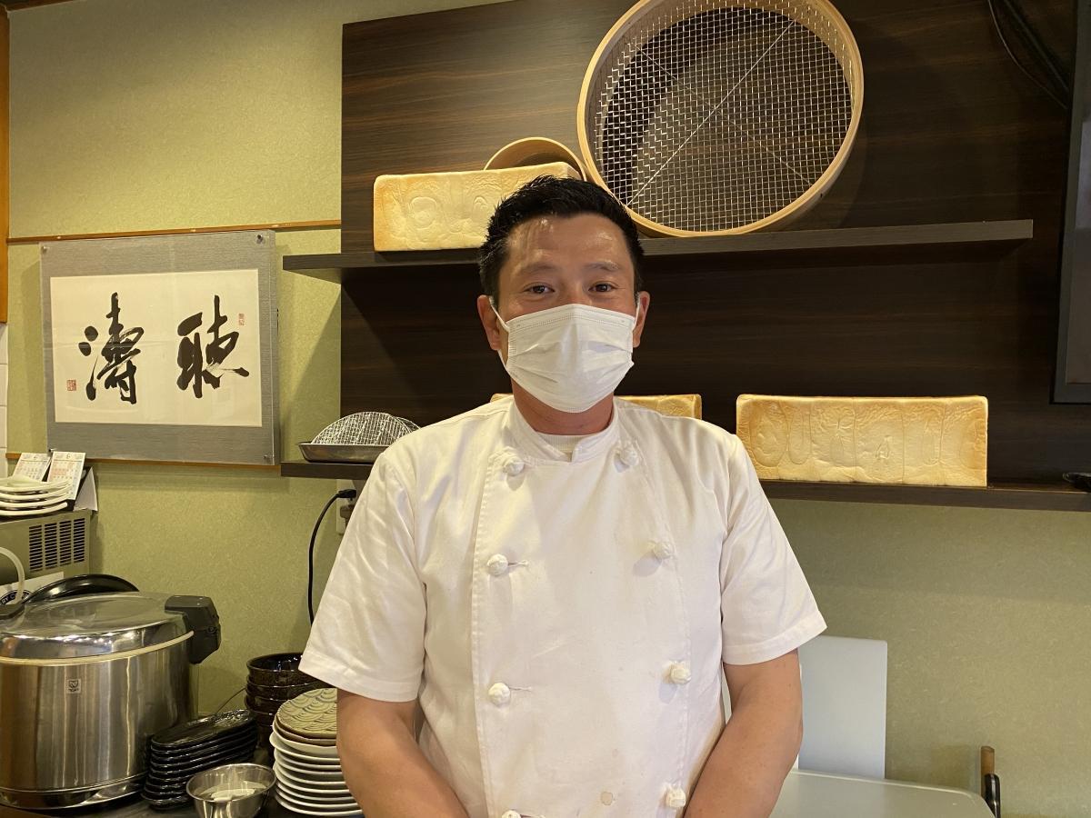 多くの来店に期待する、店主の佐藤経景さん