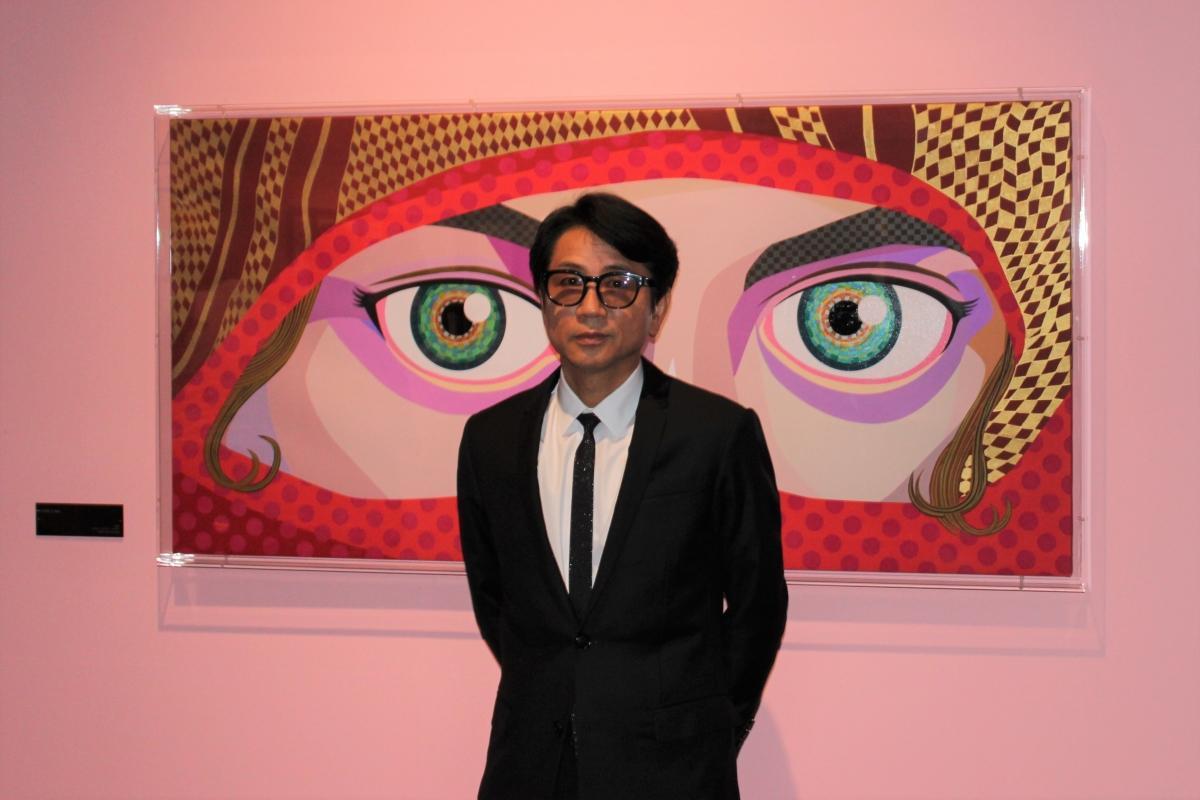 「アートのアトラクションとして楽しんでほしい」と話す藤井フミヤさん