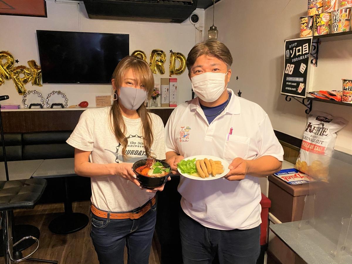 「Our Days」店主の新村詩帆さん(左)と「とんきい」の鈴木雅之さん(右)