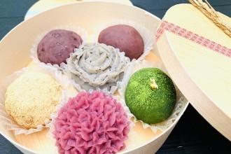 浜松・船越の菓子店でカラフルなおはぎ 40年ぶりの復刻に現代テイスト加え