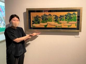 浜松の平野美術館でスイーツデコアート展 うなぎパイを使った浜松らしい新作も