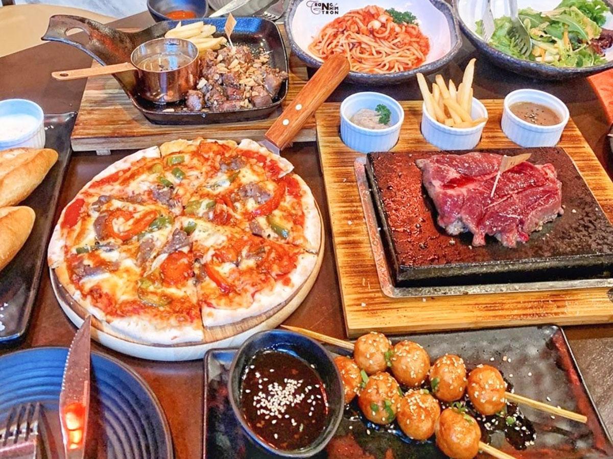 「Momoo Japanese Steak」で提供される料理