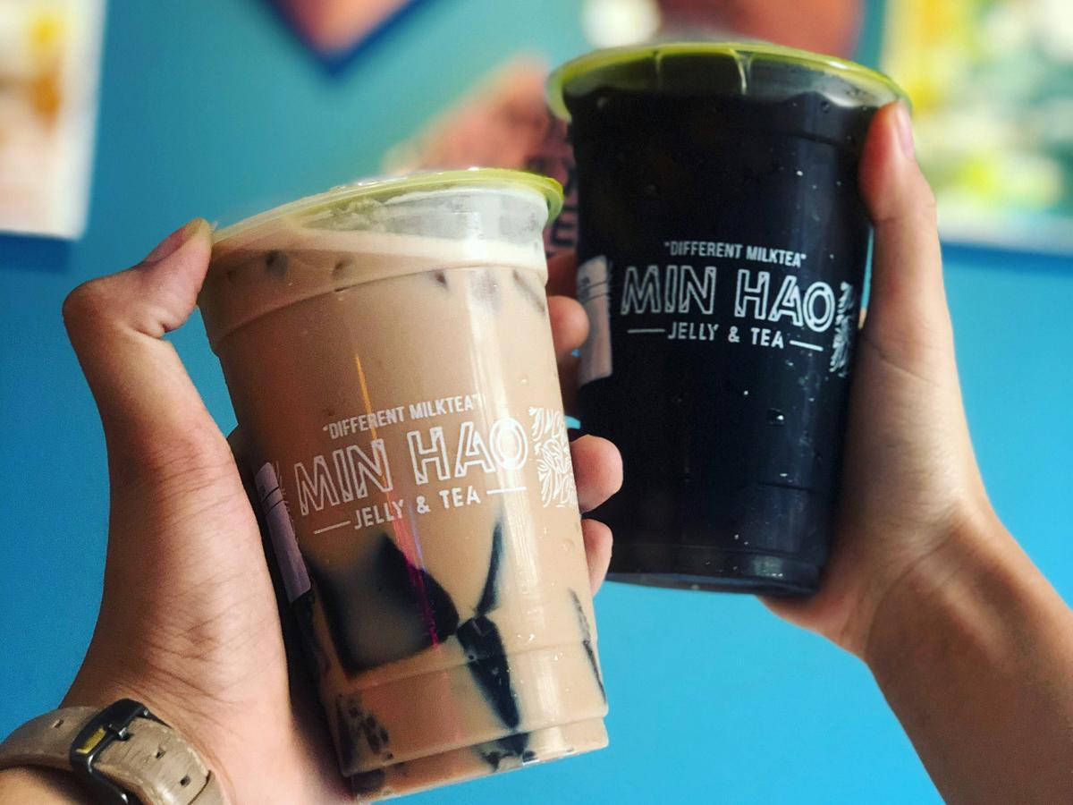 「MIN HAO Jelly & Tea」の仙茶ゼリー入りミルクティーや紅茶