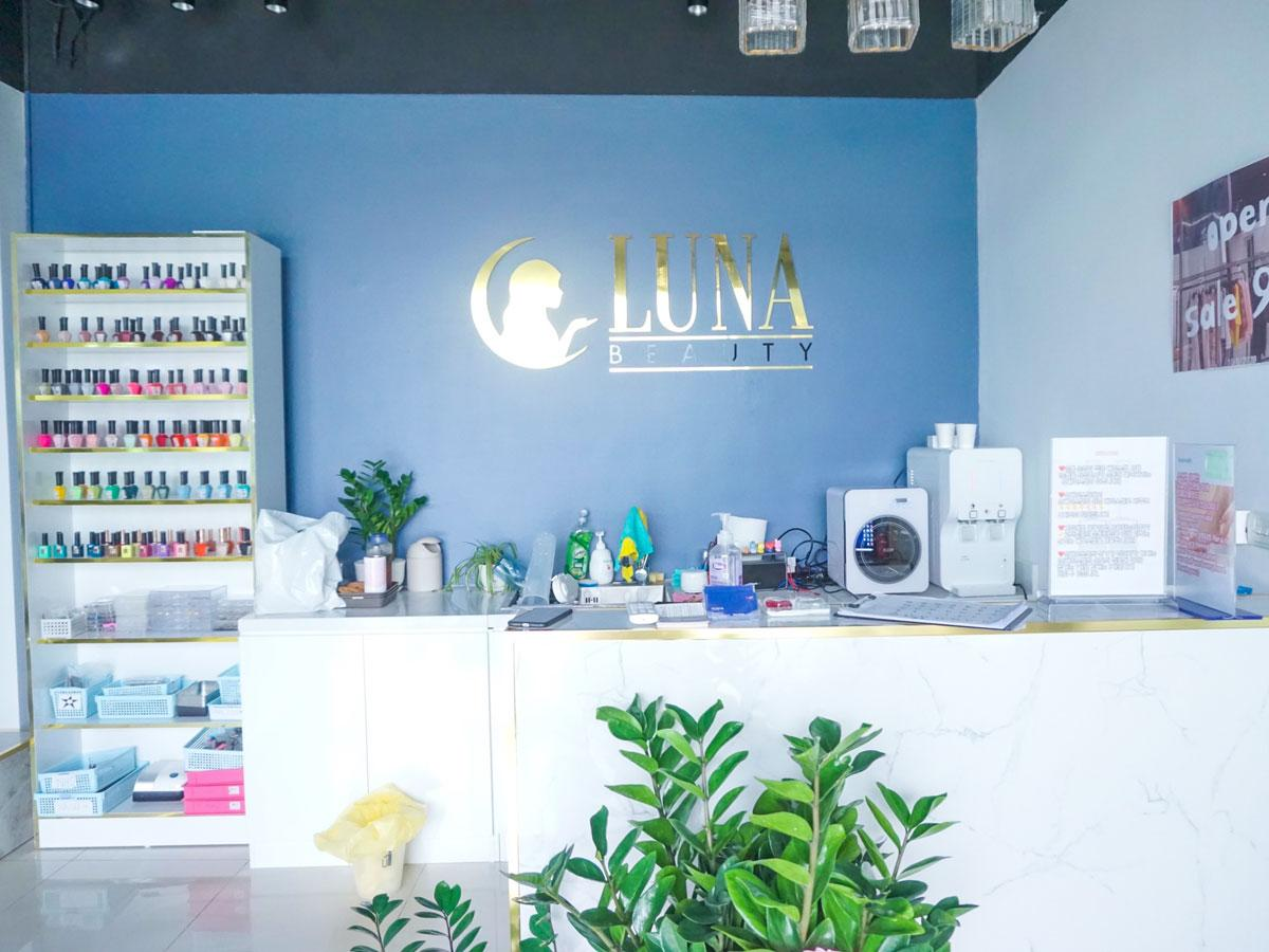 「LUNA Beauty」の店内