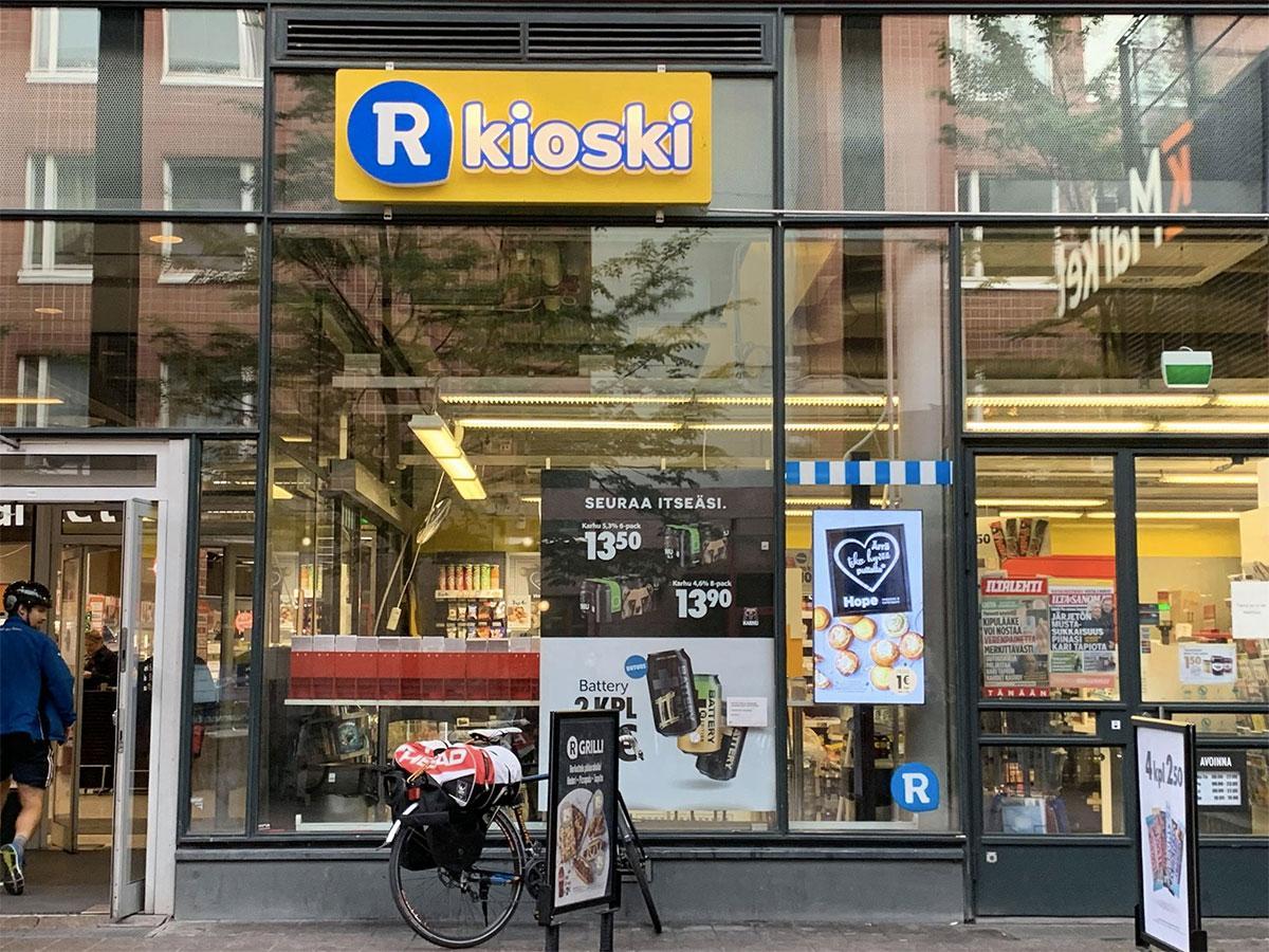 Ruoholahti駅前の「R-kioski」