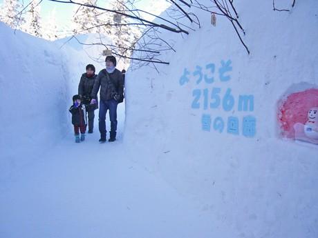 標高2156メートルに登場した「雪の回廊」