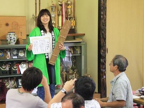 初代川ガールに認定された金森舞さん