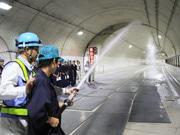 高山国府バイパス、開通へ-高山工業高生らが最新トンネル設備を見学