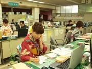 飛騨古川で和装イベント-公共機関も浴衣一色、お寺で浴衣ファッションショーも