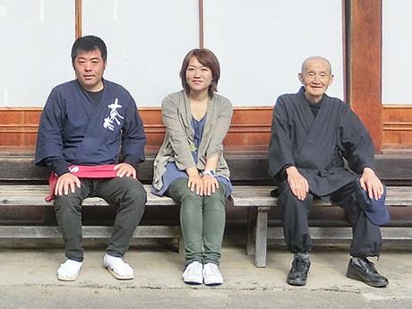 (左から)「飛騨にゅうかわ元気隊」メンバーの伊藤勝美さん、中萩基世さん、原田道一さん