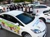 高山市、地元高校生デザインのラッピング公用車導入-市の事業アピール