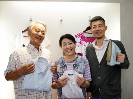 写真左から参加者の勝間田春夫さん、玲子さん、「Peperoncino」の伏木義人さん