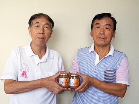 「稲田桃再生栽培プロジェクト」プロジェクトリーダーの杉山泰敏さん(写真右)と村田俊明さん(同左)