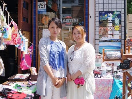 ハンドメード作家の松本菜摘さん(写真左)と津島千鶴さん(同右)