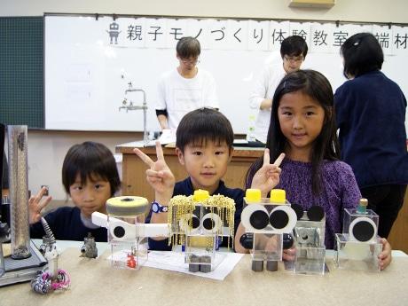市内で出た廃材でオリジナルロボットを制作