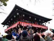 石切劔箭神社で節分祭・豆まき神事 週末重なり多くの人出