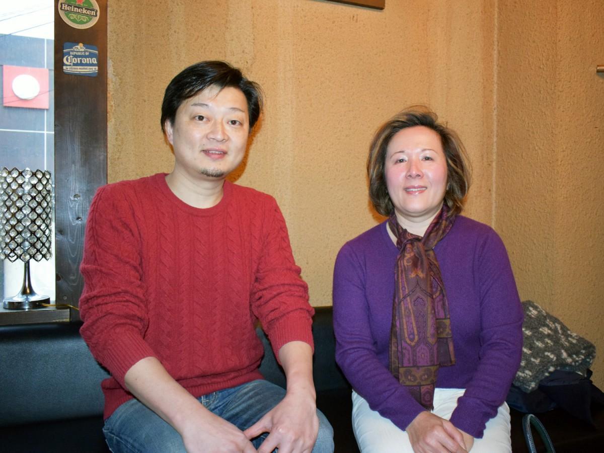 布施えびすバル実行委員会の元光一倫さん(写真左)と「NANNO & COMPANY」の南野佳美さん