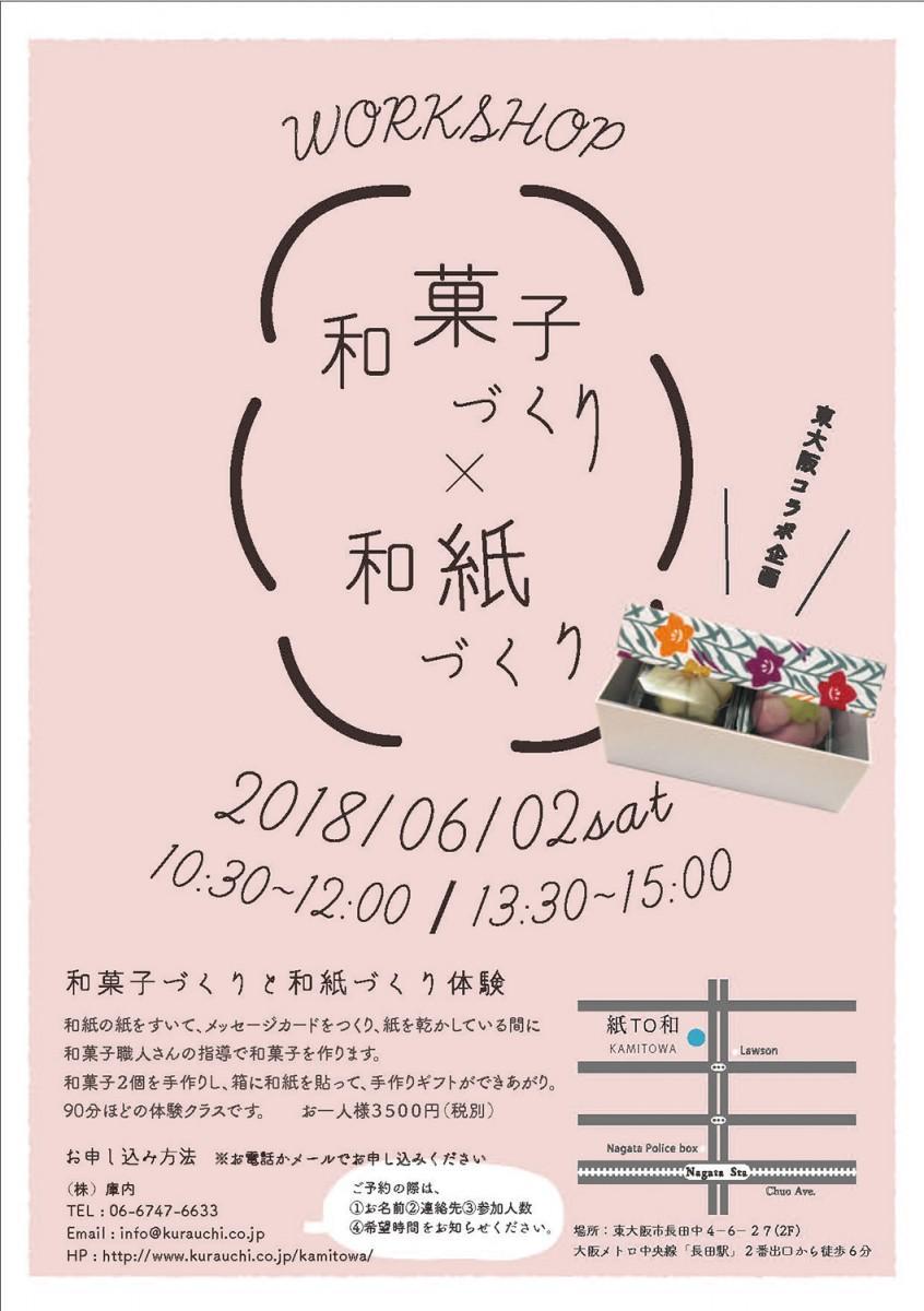 ワークショップ「和菓子づくり×和紙づくり」