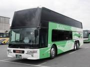 近鉄バス、「2階建て高速バス7902号さよなら乗車会」 車庫での撮影会も