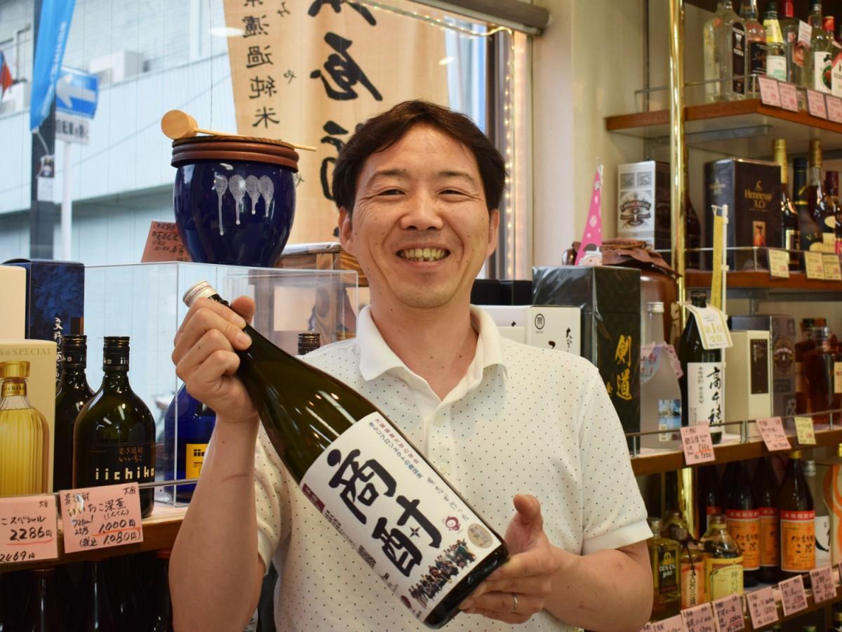 「酒のにしだ」の店主・西田祥一さん