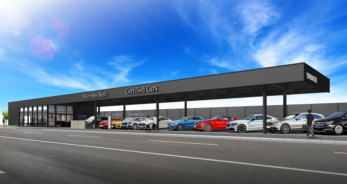 「メルセデス・ベンツ東大阪 サーティファイドカーセンター」完成イメージ