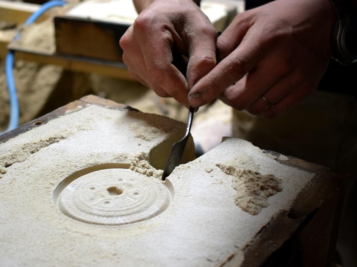 藤綱合金の鋳造体験
