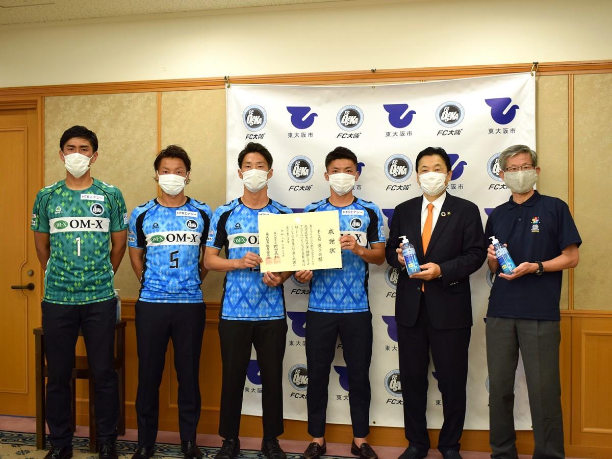 東大阪市立小学校にアルコールハンドジェルを寄贈