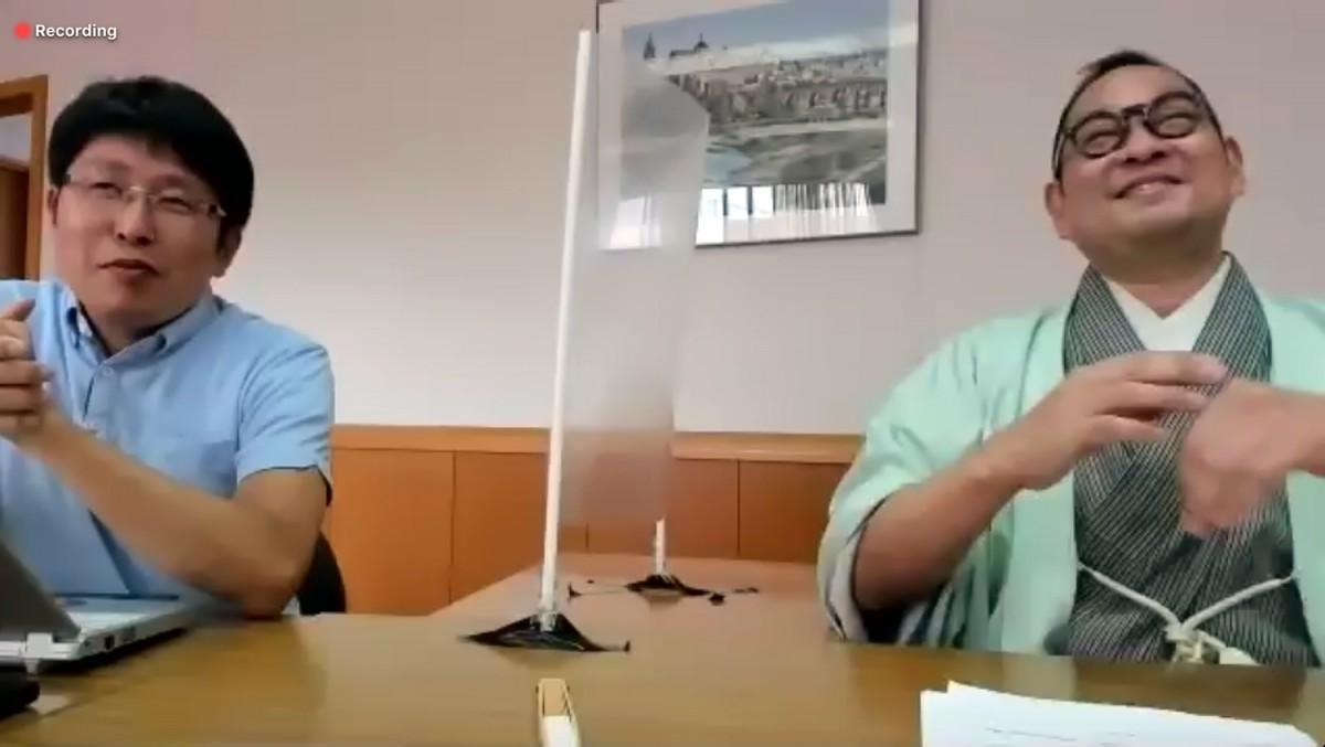 講師の米井敬人さん(写真左)と桂かい枝さん(同右)