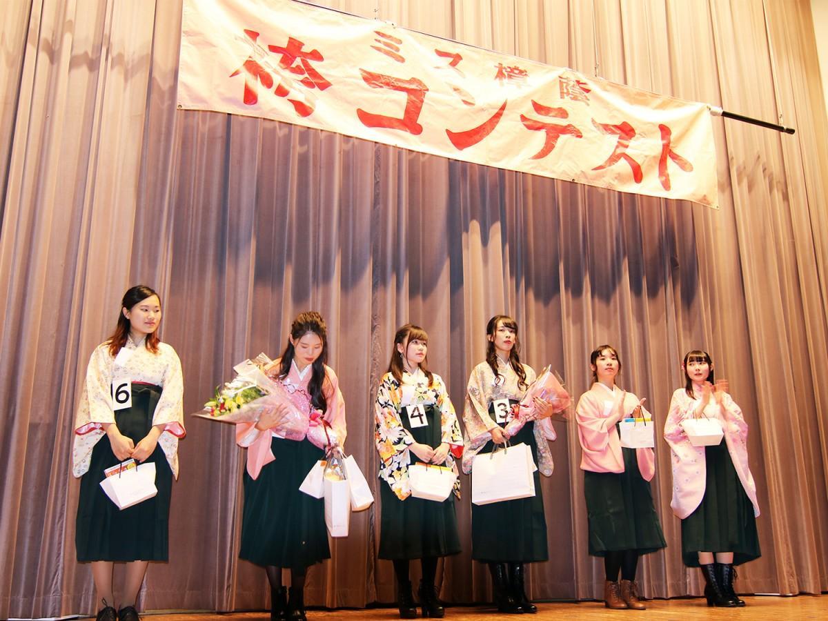 昨年の「袴コンテスト」の様子