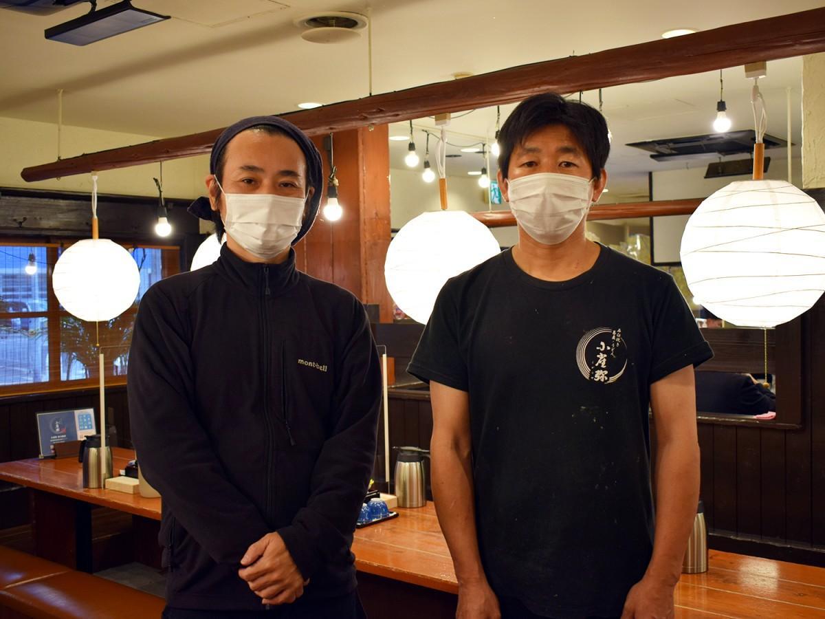 専務の川口扶展さん(写真左)と店長の高島博健さん