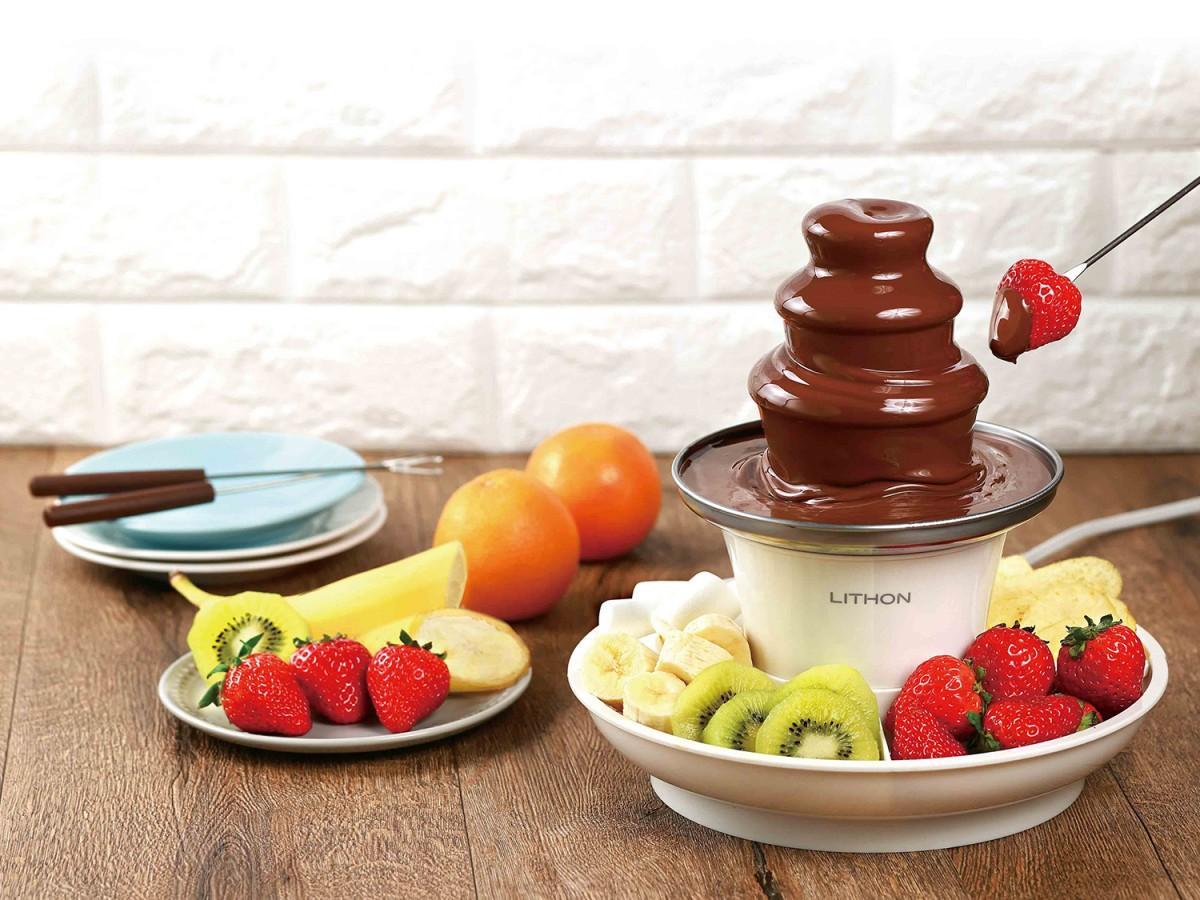 自宅でチョコレートフォンデュを楽しめるミニサイズの「マルチファウンテン」