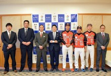関西独立リーグ「06BULLS」が東大阪市長表敬訪問 開幕に向け意気込み語る
