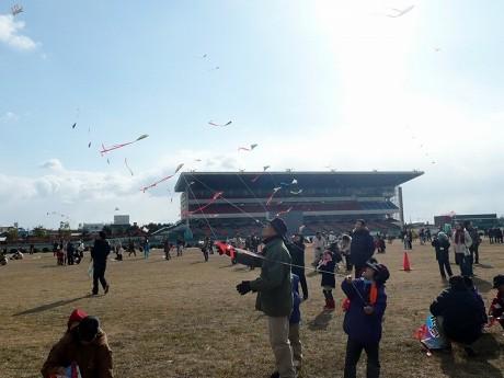 全国凧あげ祭りが開催される姫路公園競馬場。(写真=昨年の様子)