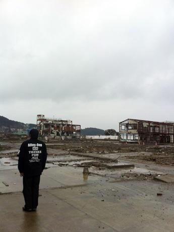南三陸町志津川地区の様子。3月10日。